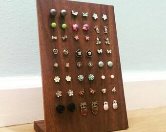 Walnut Earring Displays - Jewelry Stands - Handmade