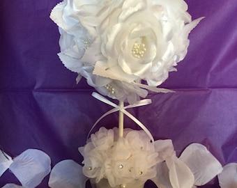 Wedding Topiary. Wedding Centerpiece. Topiary. Handmade Topiary. Handmade Wedding Topiary.Wedding Shower Topiary. Bridal Shower Topiary