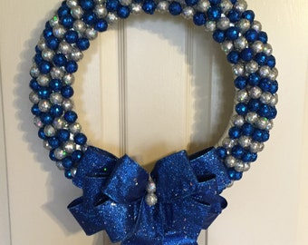Hanukkah Wreath. Christmas Wreath. Holiday Wreath. Winter Wreath. Glitterball Wreaths