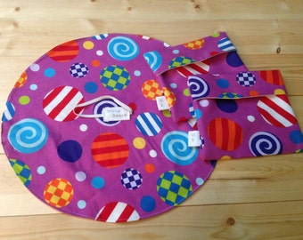 Set of 1 Reusable Sandwich Wrap and 2 Reusable Snack Bags
