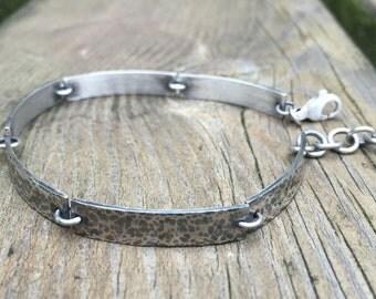 Oxidized sterling silver bracelet.