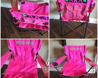 Sorority Pink & Green Neon Tailgating Chair