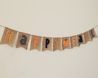 Happy fall banner, fall photo prop