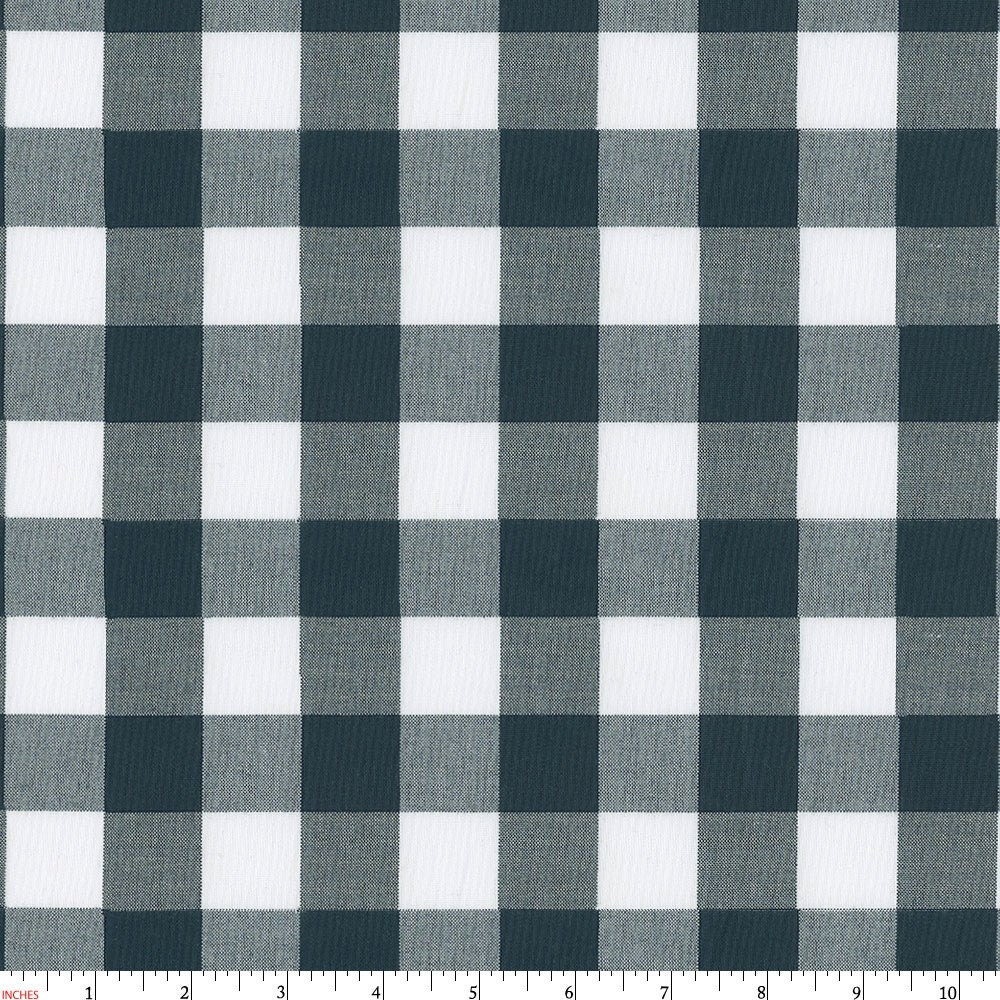Large navy gingham fabric by the yard girl boy for Minecraft fabric by the yard