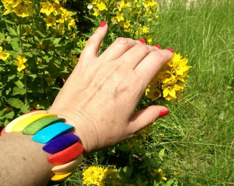 Wooden bracelet  Gift from Ukraine