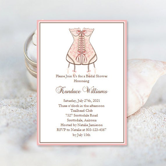 Lingerie wedding shower invitations