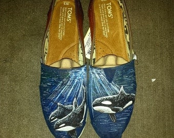Orca Whale Custom Shoes