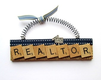 Realtor Scrabble Tile Ornament