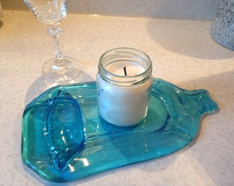 Slumped glass bottle, cheese board, chopping board, spoon rest