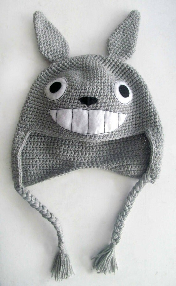 Knitting Pattern For Totoro Hat : Super Cool Totoro Inspired Knitted Hat All Sizes