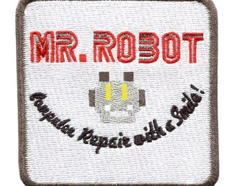 Something Different Large Square Mr. Robot Patch 7.5cm fsociety Badge for Shirt Hat Cap Jacket Great for Halloween Costume