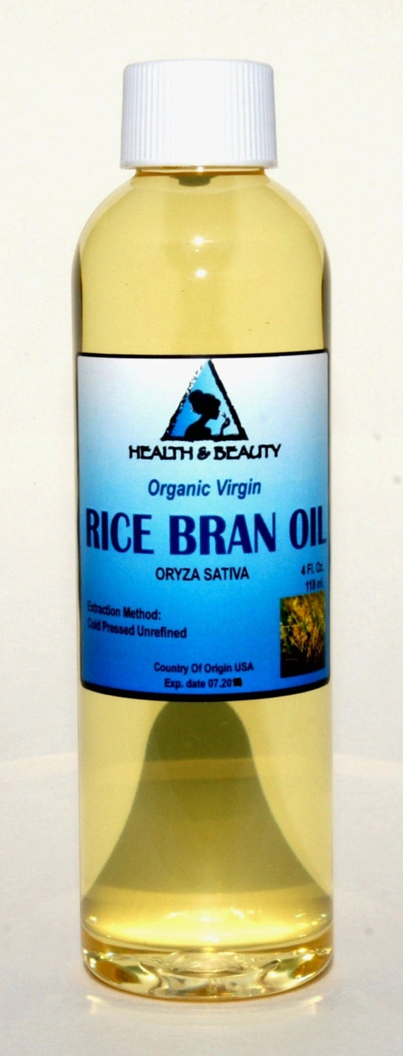 4 oz RICE BRAN OIL Organic Carrier Unrefined Cold by