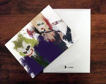Joker Card Harley Quinn Card Joker Invitation Thank You Card Birthday Card Anniversary Card Joker Birthday Card Superhero Card Stationery