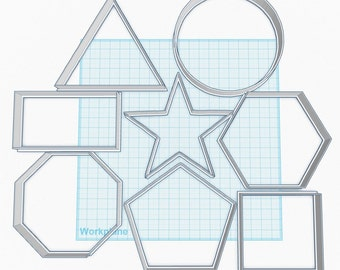 Shape Cookie Cutters Square Rectangle Star Octagon Hexagon Pentagon Cirlce Triangle