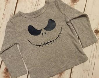 Jack Skellington Toddler Shirt, Size 12 Months 12M in Grey and Navy