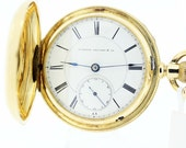 Mermod and Jaccard and CO Pocket Watch 18K Yellow Gold