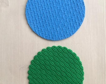 Basket Weave Silicone Embossing Mat