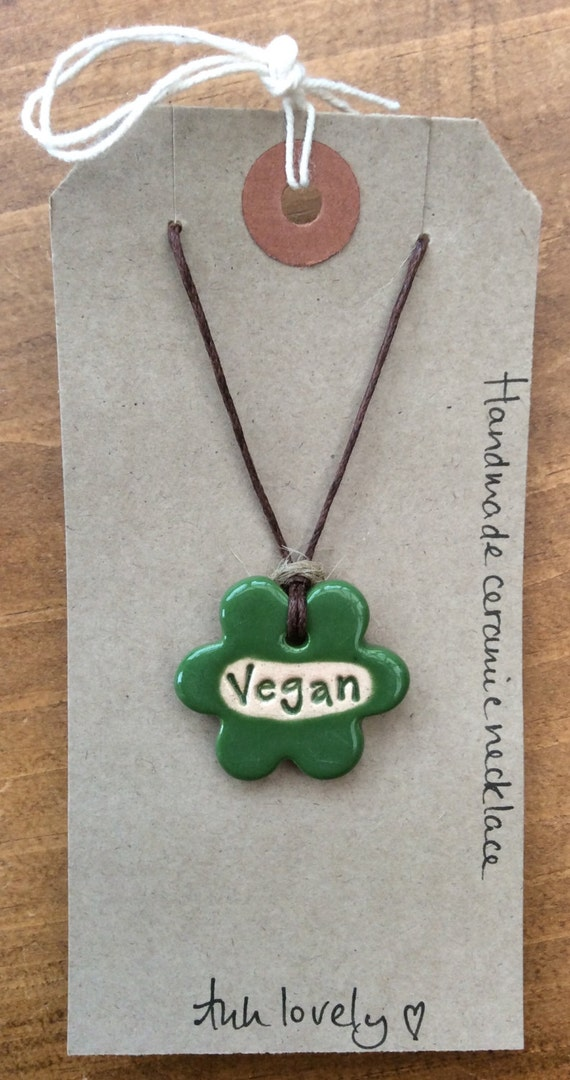 Vegan flower necklace, beautiful handmade ceramic gift