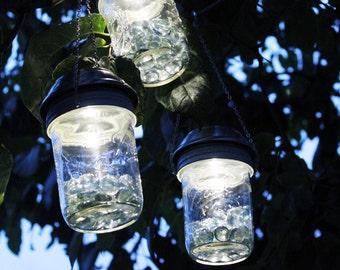 Hanging Mason Jar Solar Lantern Lid, Solar Light, Outdoor Lantern, Lighting, Hanging Lantern, Mason Jar Solar Lid, Wide Mouth, Regular Mouth