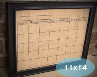 dry erase calendar on burlap 11x14 select with or without frame dry erase burlap calendar
