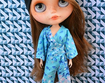 Blythe outfit -  Overall set by Pomipomari - OOAK