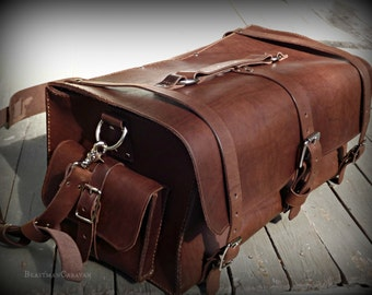 Leather weekender bag – Etsy