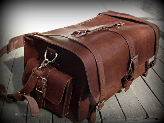 Fully Custom Leather Weekender Bag - Luggage