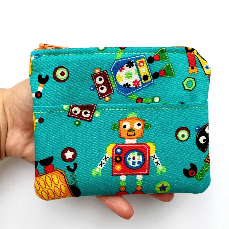 Kids Wallet Cute Robots/Boys Wallet/Kids Gift/Children's