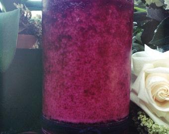 Gorgeous 4 x 6.5 Deep Burgundy pillar candle with a Gardenia/Tuberose scent