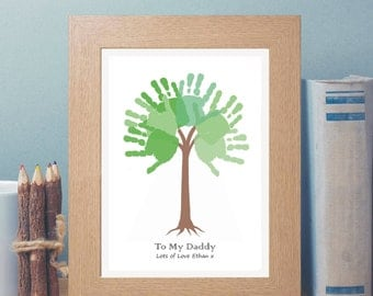 Items Similar To Fathers Day Gift Diy Child S Handprint