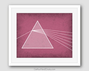 Science as Art Print - Refraction Through a Prism - Available as 8x10, 11x14 or 16x20