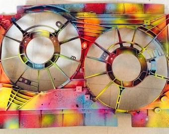 Contemporary acrylic on guard fan 'CA ' gases'