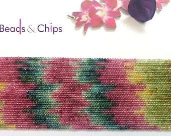 2.50 mm tourmaline beads,Watermelon Tourmaline Rondelle beads,tourmaline beads,Tourmaline rondelle,16 inches,beading supplies,gemstone beads