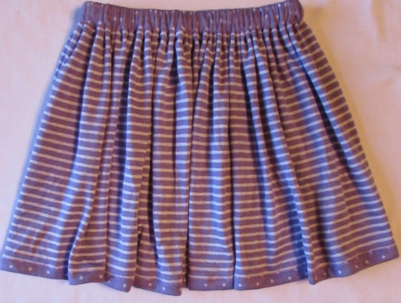 Knit skirt/girls knit skirt/toddler skirt/reversible skirt/polka dot skirt/knit skirt/purple skirt/junior skirt/spring skirt/summer skirt