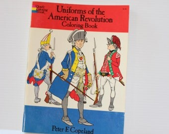 AMERICAN REVOLUTION Coloring Book, Uniforms of the American Revolution,Historical coloring book,educational book,home school book, gift book