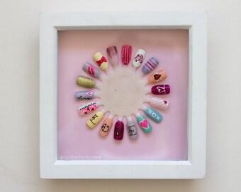 Framed Valentines Nail Wheel Wall Art