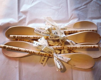 "40 Personalized 12"" spoon favors"