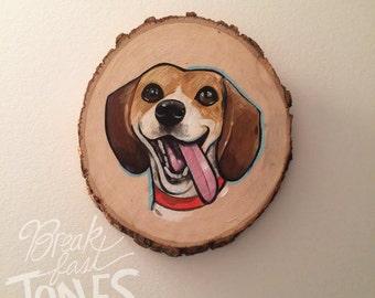 Custom Pet Portrait, Pet Portrait on Wood, Hand Painted Pet Portrait, Pet Portrait Painting, Pet Loss, Pet Memorial Gift, Gift for Pet Lover