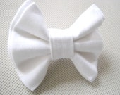 White dog bow tie Collar bow tie Dog accessory