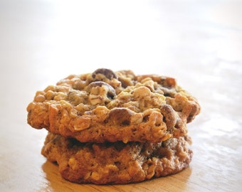 Malted Oatmeal Cookies w/ Pecans, Pretzels, and Milk Chocolate