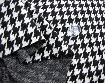 Interlock Knit Fabric Houndstooth