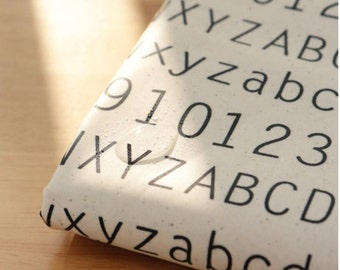 Laminated Cotton Fabric Alphabet By The Yard