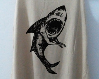 Art Shark Tank Top T-Shirt Animal Shirt Shirt Women Shirt Funny Women Tunic Top Vest Sleeveless Size S,M,L