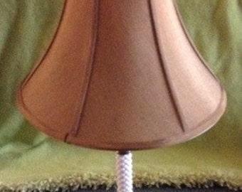 Mid-Century White Hobnail Ceramic Lamp