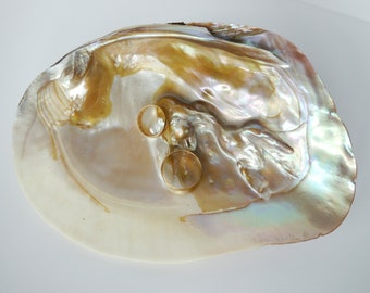 Seashell Ring Holder, Natural Shell Ring Bearer, Beach Ring Pillow, Ring Bearer, Beach Wedding, Natural Seashell, Seashell Ring Bearer Shell