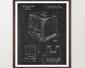 Apple Computer Patent - Apple Patent - Apple Computer Art - Computer Patent - Patent Poster - Apple Poster - Computer Poster - Coding - MAC