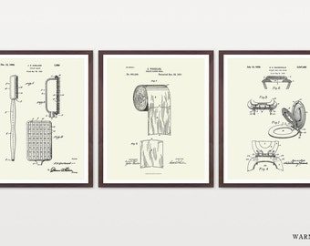 Toilet Inventions - Toilet Patent - Toilet Paper - Toilet Paper Patent - Bathroom Patent - Bathroom Poster - Toilet Poster - Bathroom Art