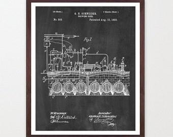 Beer Poster - Beer Patent - Beer Art - Beer Patent Print - Vintage Beer Bottle - Beer Design - Home Brew - Home Brewing Poster - Beer Decor