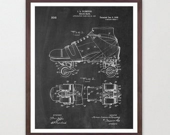 Roller Skates - Roller Skate Poster - Roller Derby - Roller Skate Art - Retro Skates - Roller Derby Poster - Roller Derby Art - Skate Patent