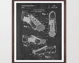 Soccer Art - Soccer Poster - Soccer Cleats - World Cup - World Cup Art - World Cup Poster - Soccer Wall Art - Soccer Patent